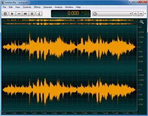 Capture d'ecran du logiciel Ocenaudio Portable 3.5.3 fr