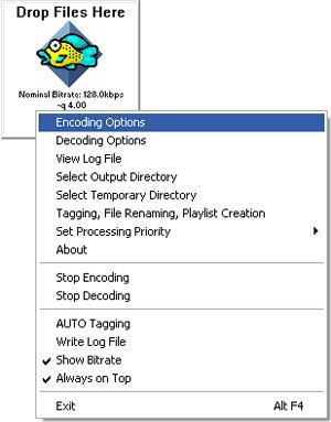 Capture d'écran du logiciel OggDropXPd 1.9.2