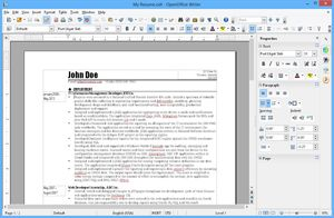 Capture d'écran du logiciel Apache OpenOffice 4.1.5 fr - W...