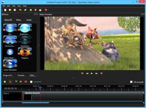 Capture d'écran du logiciel OpenShot Video Editor 2.5.1 fr...