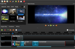 Capture d'ecran du logiciel OpenShot Video Editor 2.5.1 fr - Linux