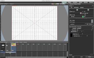 Capture d'écran du logiciel OpenToonz 1.1.2 - Mac