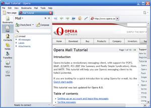 Capture d'écran du logiciel Opera Mail Portable 1.0.1044 fr