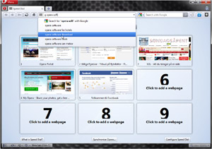 Capture d'écran du logiciel Opera 44.0.2510.857 fr - Windows