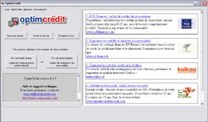 Capture d'écran du logiciel OptimCrédit 5.0.1 fr