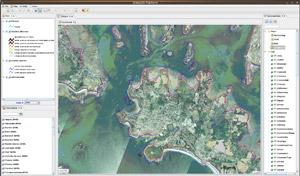 Capture d'écran du logiciel OrbisGis 5.1