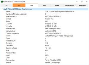 Capture d'ecran du logiciel PC Info 3.7.5.714