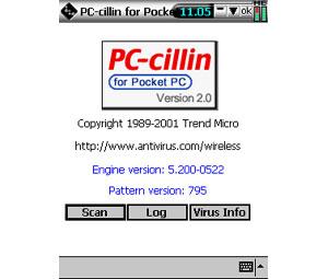 Capture d'écran du logiciel PC-cillin for Wireless 2.0 - P...