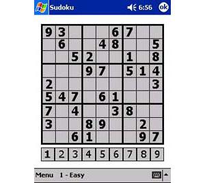 Capture d'écran du logiciel PDA Sudoku 3.01