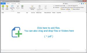 Capture d'écran du logiciel PDF Compressor 2.7.0.0