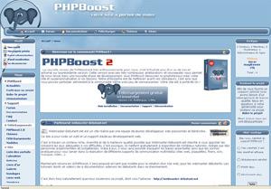 Capture d'écran du logiciel PHPBoost 5.1.2 fr