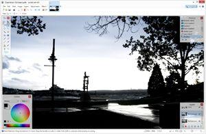 Capture d'écran du logiciel Paint.NET 4.0.21
