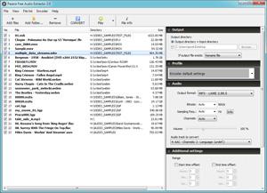 Capture d'écran du logiciel Pazera Free Audio Extractor 2.6