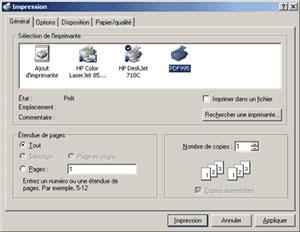 Capture d'ecran du logiciel Pdf995 Printer Driver 20.2s