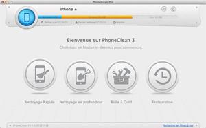Capture d'écran du logiciel PhoneClean 5.0.1 fr - Mac