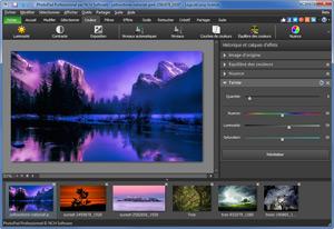 Capture d'ecran du logiciel PhotoPad 7.44 fr