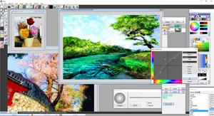 Capture d'ecran du logiciel Pixia 6.04b