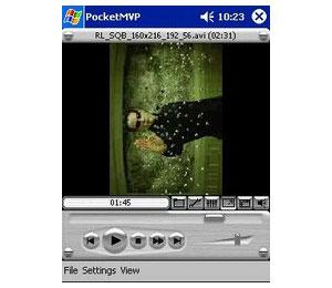Capture d'ecran du logiciel PocketMVP 0.8.011804 fr