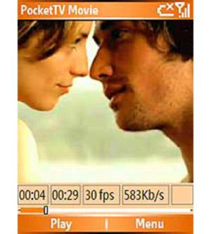 Capture d'écran du logiciel PocketTV 1.4.4 fr