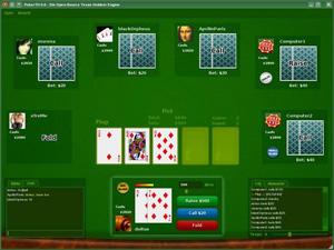 Capture d'écran du logiciel PokerTH Portable 1.1.1 fr
