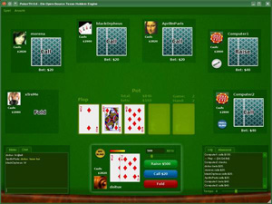 Capture d'ecran du logiciel PokerTH Portable 1.1.2 fr
