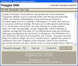 Capture d'écran du logiciel Polyglot 3000 3.79 fr