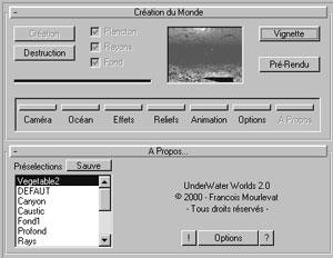 Capture d'écran du logiciel Poseidon 2.3 fr
