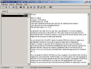Capture d'écran du logiciel Power Dev 2.5 fr