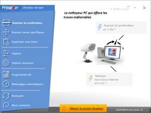 Capture d'écran du logiciel PrivaZer 3.0.26 fr