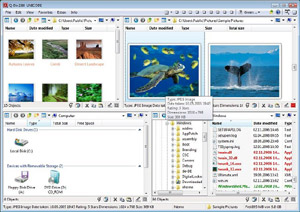 Capture d'écran du logiciel Q-Dir Portable 6.61 fr
