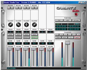 Capture d'ecran du logiciel Quartz Studio 3.7 fr