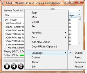 Capture d'ecran du logiciel RadioSure 2.2.1046 fr