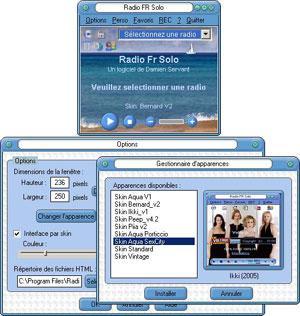 Capture d'ecran du logiciel Radio Fr Solo 2.1