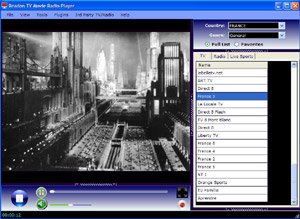 Capture d'ecran du logiciel Readon TV Movie Radio Player 7.6.0.0