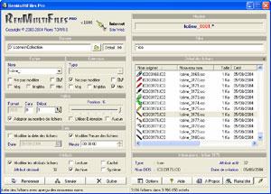 Capture d'écran du logiciel RenMultiFiles Pro 2.8.0.0 fr