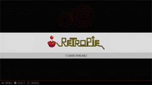 Capture d'ecran du logiciel RetroPie 4.6 fr