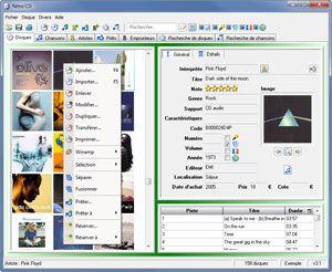 Capture d'écran du logiciel Retro'Cd 3.1 fr