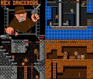 Capture d'écran du logiciel Rick Dangerous DC
