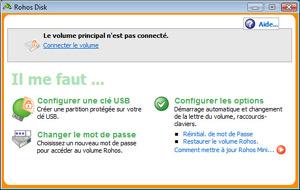 Capture d'écran du logiciel Rohos Mini Drive 2.5 fr
