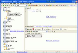 Capture d'écran du logiciel SQLyog 12.3.2