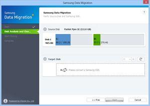 Capture d'écran du logiciel Samsung Data Migration 3.1.0.3 fr