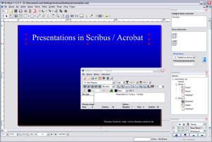 Capture d'écran du logiciel Scribus Portable 1.5.4 fr