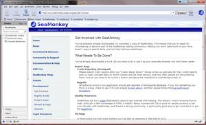 Capture d'écran du logiciel SeaMonkey Portable 2.49.3 - Wi...