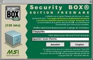 Capture d'écran du logiciel Security BOX 2.0 fr
