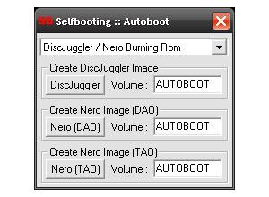 Capture d'écran du logiciel Selfboot 1.0