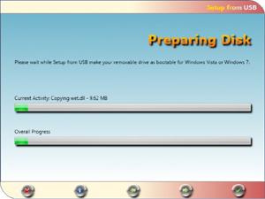Capture d'ecran du logiciel Setup from USB 2.1.0.0