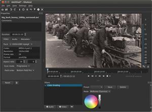 Capture d'ecran du logiciel Shotcut 19.04.30 fr - Linux