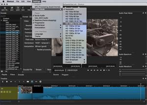 Capture d'ecran du logiciel Shotcut 19.01.27 fr - Mac