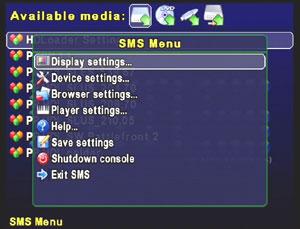 Capture d'écran du logiciel Simple Media System (SMS) 2.9 ...