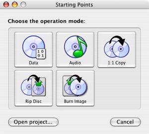 Capture d'écran du logiciel SimplyBurns rev428 fr